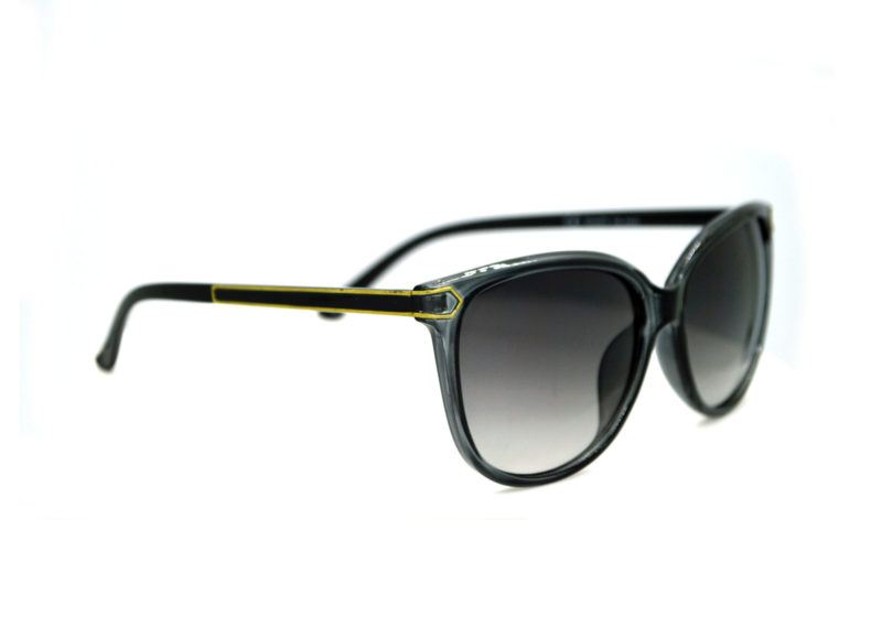 Shady Black & Yellow Butterfly Sunglasses with Grey Gradient Tint 1