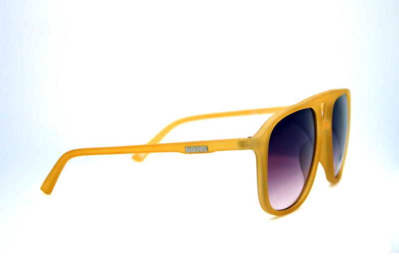 Shady Yellow Sporty Sunglasses with Dark Tint 1