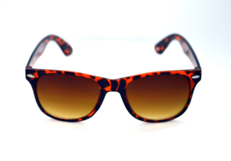Brown Tortoise Print Wavers Sunglasses with Brown Tint 2