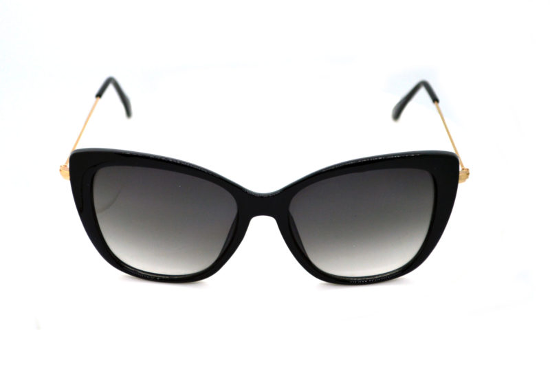 Shady Gold Finish Butterfly Sunglasses with Grey Gradient Tint 2