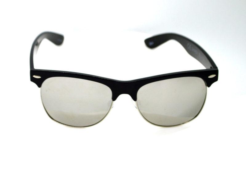 Shady Black Round Sunglasses with Light Tint 2