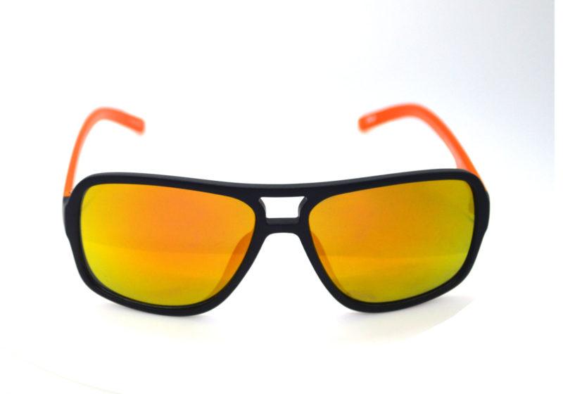 Shady Orange & Black Tween Sunglasses with Yellow Tint 2
